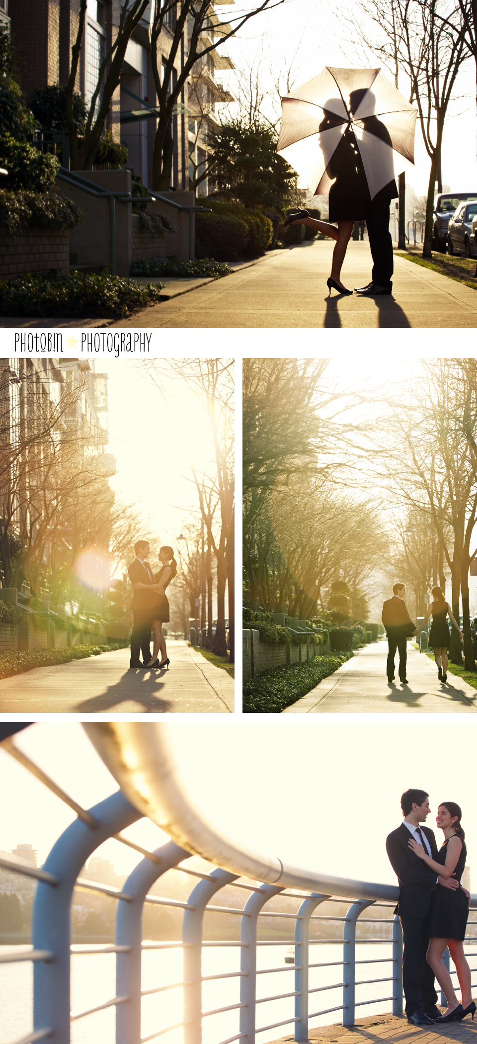 sunset engagement session in beautiful Vancouver BC