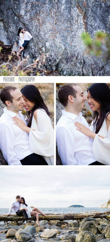 West Vancouver sea side sunrise engagement session by Tobin Smith of phoTobin photography