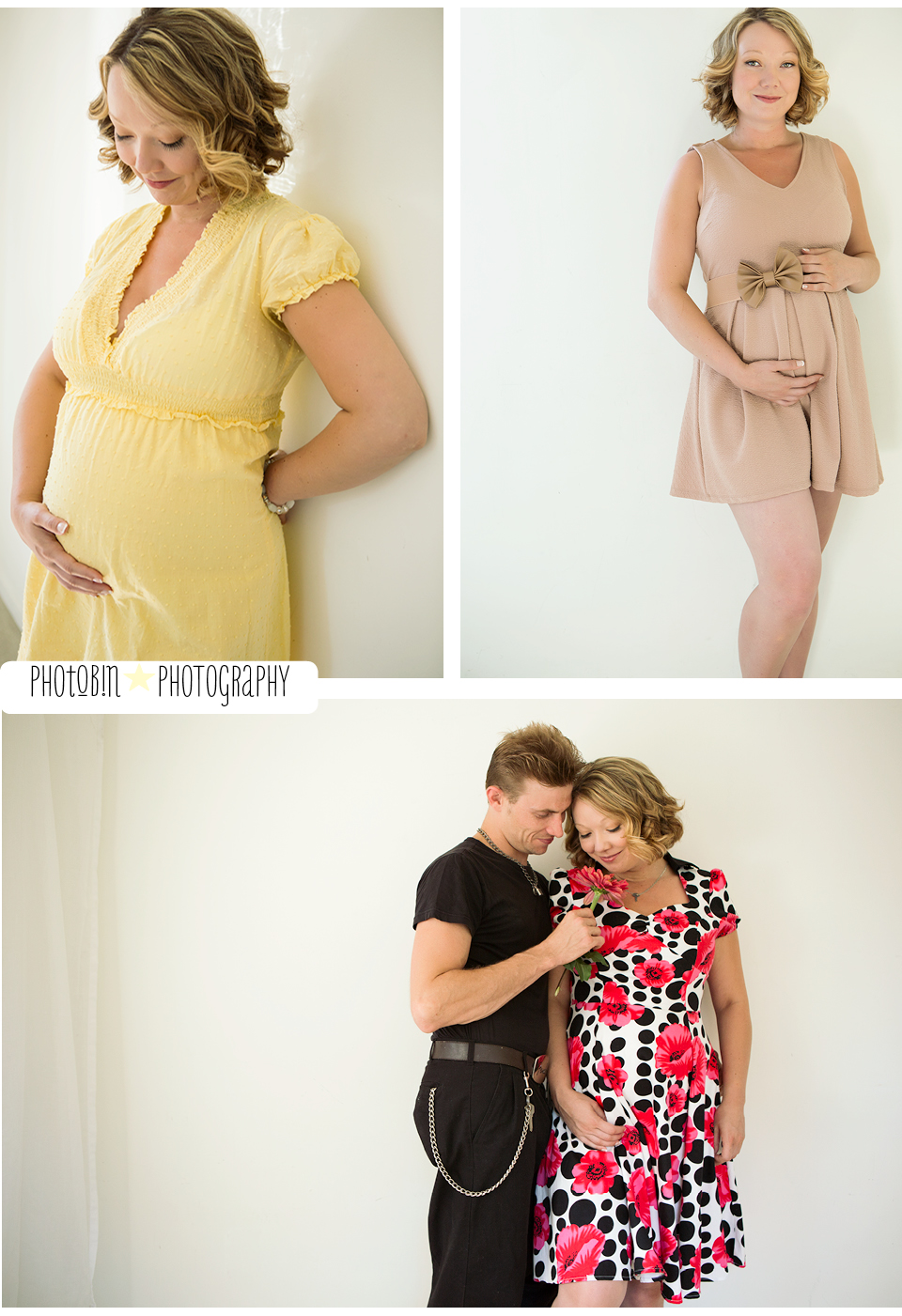 vancouver based modern glamour portrait studio maternity shoot